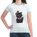 Dotty Cat Jr. Ringer T-Shirt