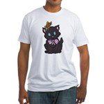 Dotty Cat Fitted T-Shirt