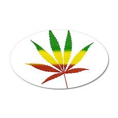 Caribbean Weed 22x14 Oval Wall Peel