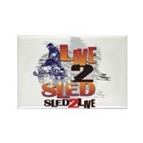 Live 2 sled sled 2 live Rectangle Magnet