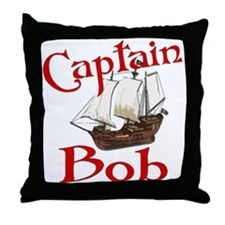 Captain Bob's Throw Pillow