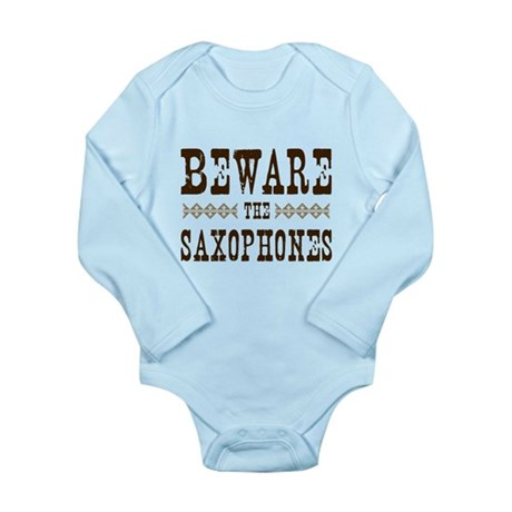 Beware the Saxophones Long Sleeve Infant Bodysuit