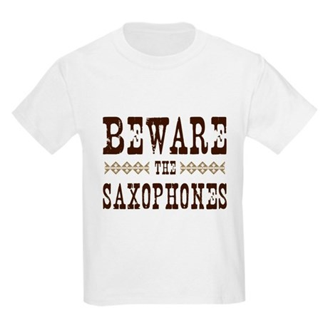 Beware the Saxophones Kids Light T-Shirt