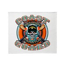US Coast Guard Skull M-4s Throw Blanket