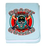 US Coast Guard Skull M-4s baby blanket