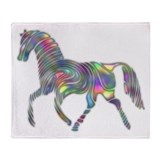 Colorful Abstract Horse Throw Blanket