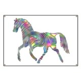Colorful Abstract Horse Banner