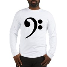 Bass Clef Symbol Long Sleeve T-Shirt