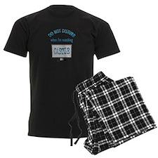 Do Not Disturb Watching Castle Men's Dark Pajamas