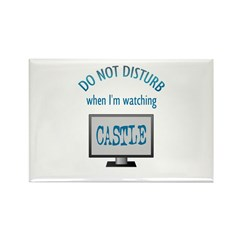 Do Not Disturb Watching Castle Rectangle Magnet (1