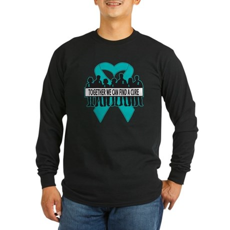 Ovarian Cancer Together Long Sleeve Dark T-Shirt