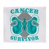 Stylish Ovarian Cancer Survivor Throw Blanket