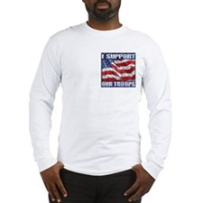 I Support Our Troops LongSleeve T(heart)