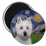 Starry - Westie (P) Magnet