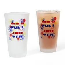 Celebrate July 4th Drinking Glass
