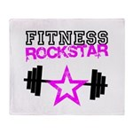Fitness rockstar Throw Blanket