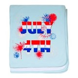 Celebrate July 4th baby blanket