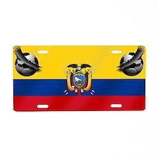 Ecuador Soccer Flag Aluminum License Plate