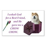 Chow Chow (Tan,White) Rectangle Bumper Stickers