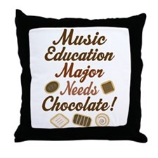Music Education Major Gift Throw Pillow
