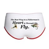 """Fisherman's Heart"" Women's Boy Brief"