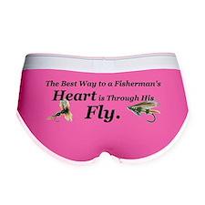 """Fisherman's Heart"" Women's Boy Brief"