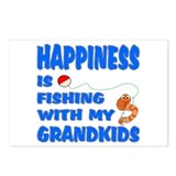 Happiness Is Fishing With Gra Postcards (Package o