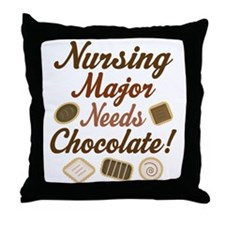Nursing Major Gift Throw Pillow