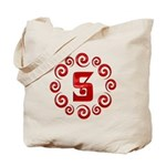 Red S Monogram Tote Bag