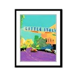 Little Italy Framed Panel Print