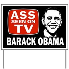 ASS Seen On TV Yard Sign