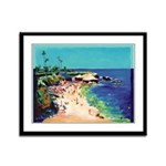 Calm Sea at the Cove Framed Panel Print