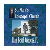 ST. Mark's Episcopal Church Tile Coaster