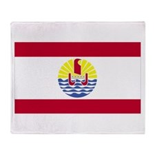 French Polynesia Throw Blanket