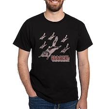 Flying Squirrels Black T-Shirt