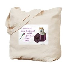 Chow Chow (Tan,White) Tote Bag