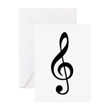 G Clef / Treble Clef Symbol Greeting Card
