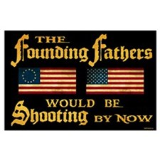 Founding Fathers Shooting Large Poster
