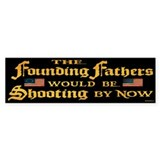 Founding Fathers Shooting Car Sticker