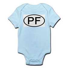 PF - Initial Oval Infant Creeper
