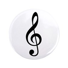 "G Clef / Treble Clef Symbol 3.5"" Button"