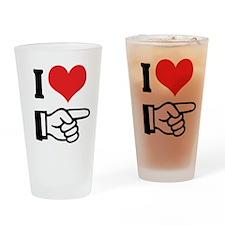 I Love Him/Her Pint Glass