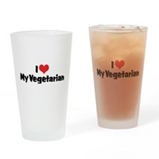 I Love My Vegetarian Pint Glass