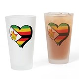 I Love Zimbabwe Pint Glass