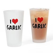 I Love Garlic Pint Glass