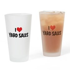 I Love Yard Sales Pint Glass