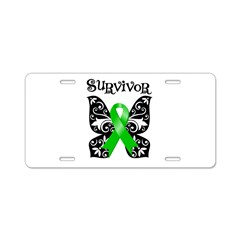 Bile Duct Cancer Butterfly Aluminum License Plate