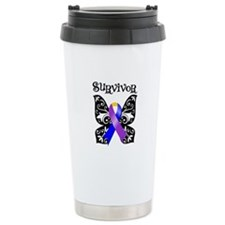 Bladder Cancer Butterfly Ceramic Travel Mug