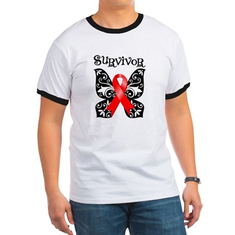 Blood Cancer Butterfly Ringer T