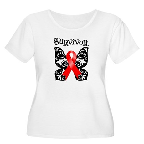 Blood Cancer Butterfly Women's Plus Size Scoop Nec